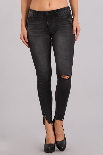Ankle Skinny Mid Rise Fitted Jeans