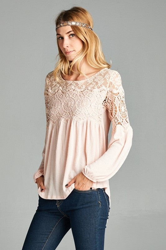 Crochet Lace Detail Bella Top