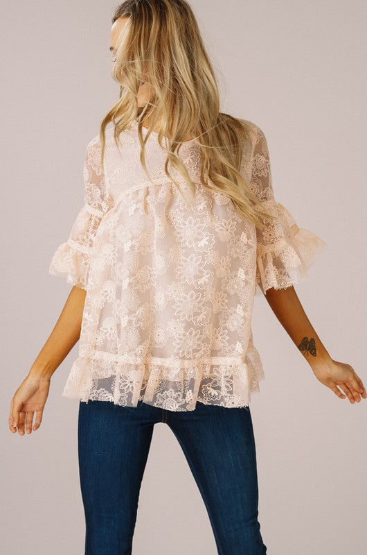 Embroidery Lace Top