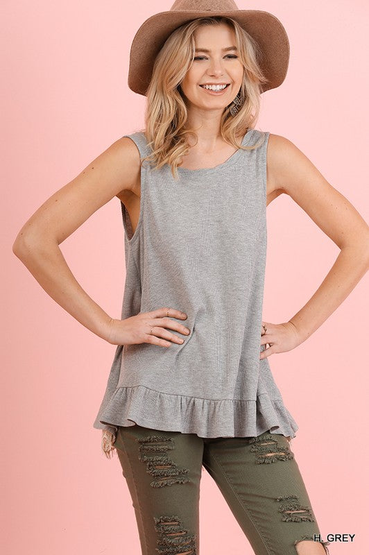 Sheer Lace Sleeveless Top