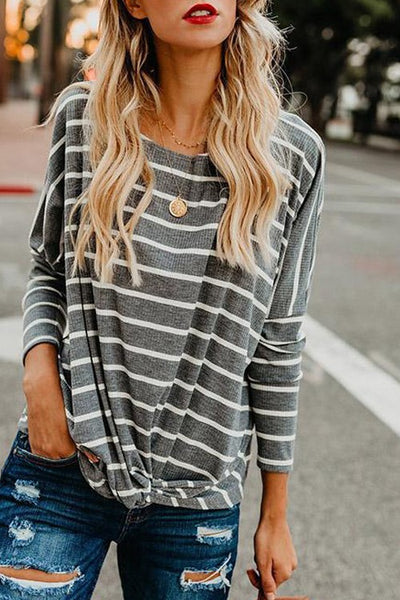 Knit Top w/Front Tie