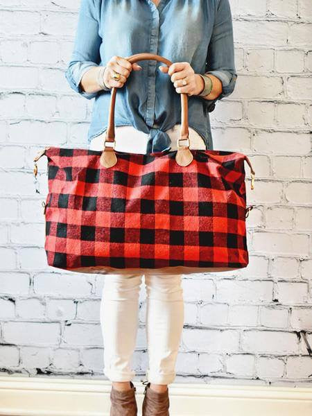 Buffalo Plaid Weekender Bag