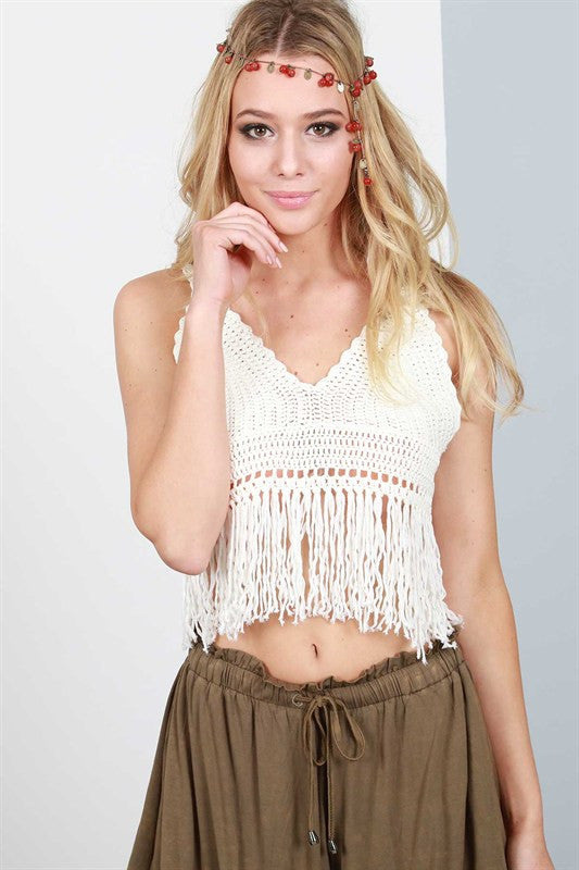 Knit Crochet Crop Top