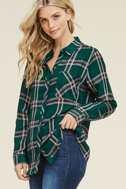 Button Down Plaid Shirt