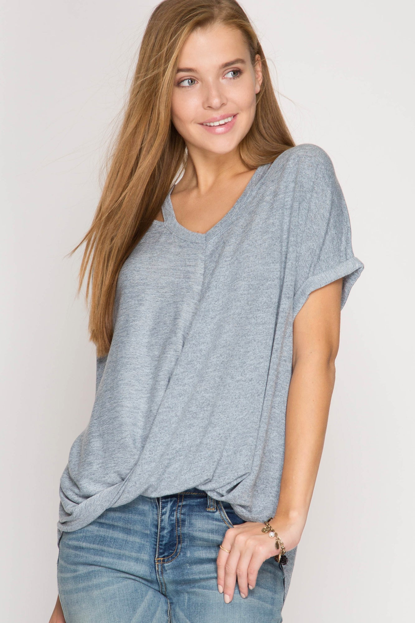 SS Top w/Neck Cut Outs