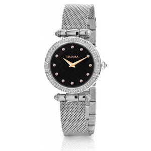 ISADORA watch IBIZA black quited dial silver steel/mesh band