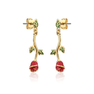 Beauty & the Beast Rose Drop Earring