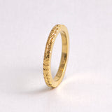 Wheat Leaf Ring - borderless