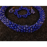 Kahoa, vesa & hau Set - Royal Blue Diamond