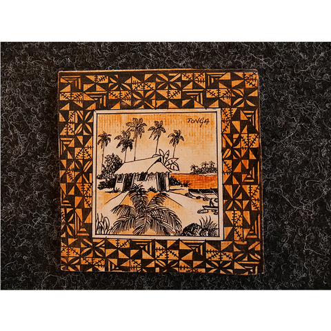 Brand New Square Coaster - Fale Tonga Design