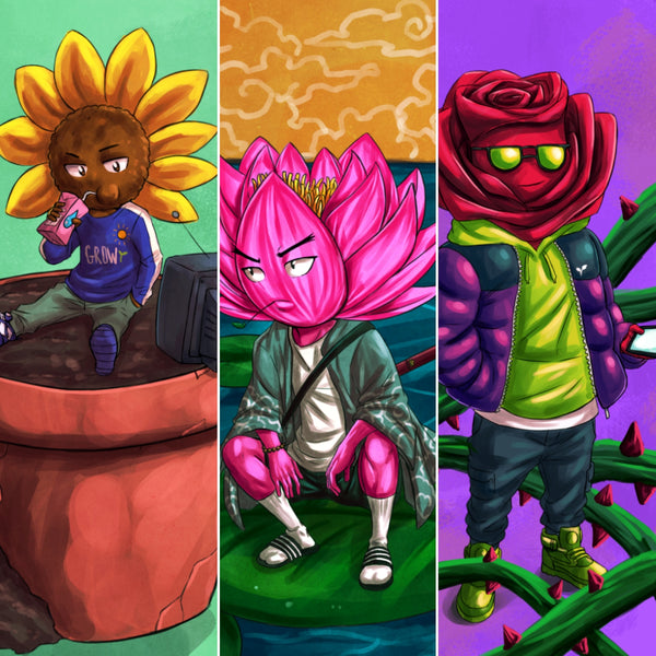 Sunny,Lotus, and Buddy Rose- Print Bundle