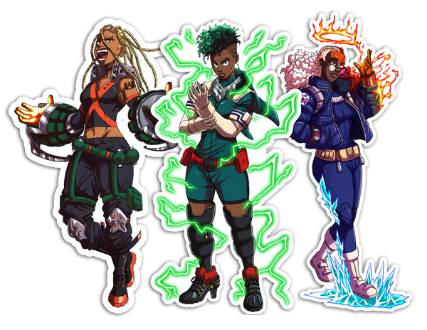 My Hero Academia Remix Sticker Pack 1