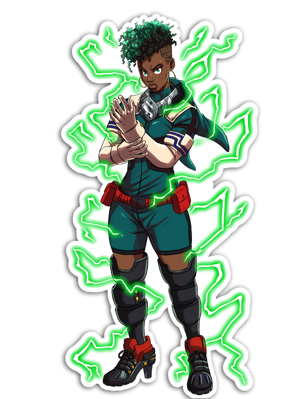 Deku Sticker - My Hero Academia Remix