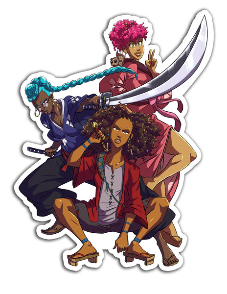 Melanin Champloo Sticker