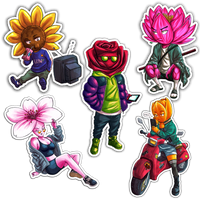 Flower Kidz- Sticker Pack