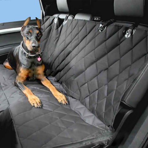 Back Seat Pet Cover For Any Vehicle with NonSlip Folding Mat  - Pet