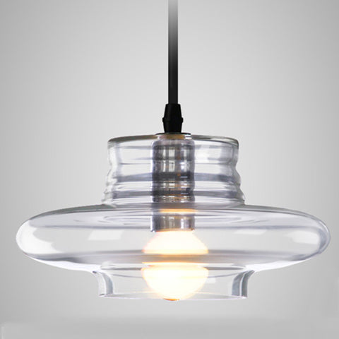 Modern Pendant lights clear galss indoor lamp E14 AC85-265V ceiling The restaurant dining room bar shores  light Fixture