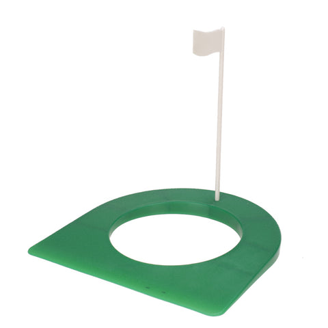 Golf Rubber Putting Cup Device 4 1/4' Hole with Flag Outdoor Practice Golf Training Aids Home Garage Golf Accessories