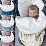 Baby Hooded Swaddle Knit Wrap Blanket