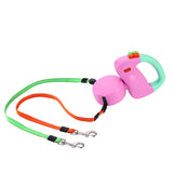 Dual Dog Walking Leash Retractable  3 M Length - 3 Colors
