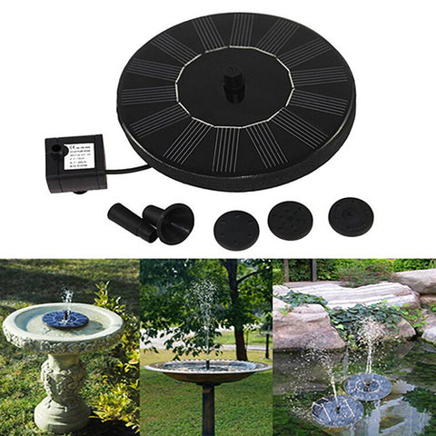 Solar Power Birdbath Floating Water Fountain