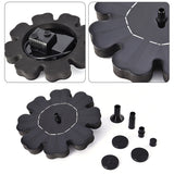 Flower-shaped Solar Power Fountain Birdbath Water Floating  Outdoor Pool Garden