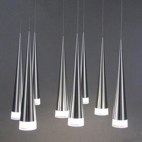 Modern LED lamp pendant lights  Aluminum Metal Plating taper dining sitting room dining-room bar shop hanging lamp