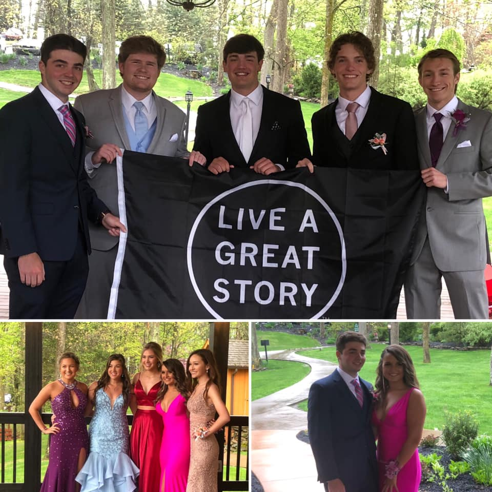 LIVE A GREAT STORY Prom Celebration Flag