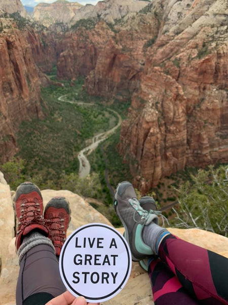 Angel's Landing Zion LIVE A GREAT STORY Hiking