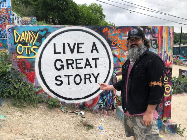 LIVE A GREAT STORY At HOPE OUTDOOR GALLERY Hog H.O.P.E. Austin graffiti park