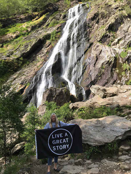 LIVE A GREAT STORY at Powerscourt Waterfall Ireland