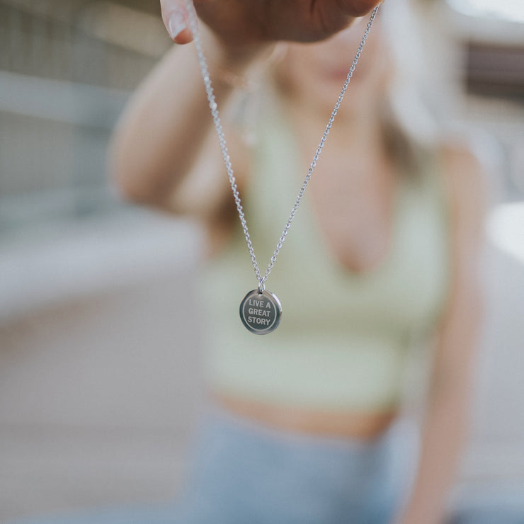 LIVE A GREAT STORY Necklace