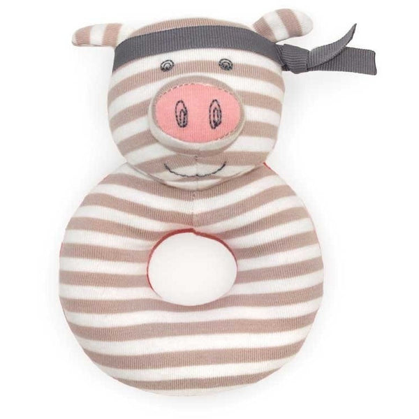 Apple Park Baby Rattle Pork Chop Organic Patterned Rattle (4 Designs)