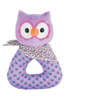 Apple Park Baby Rattle Purple Owl Apple Park Organic Baby Rattle (6 Designs)