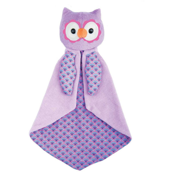 Apple Park Blankie Purple Owl Organic Patterned Blankie (6 Designs)