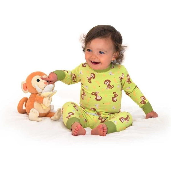 Apple Park Pajama Apple Park 100% Organic Cotton Pajamas (6 - 12 months) Monkey