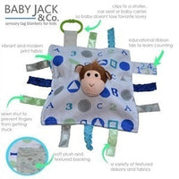 Baby Jack & Co lovey Baby Jack & Co Sensory Educational Monkey Lovey (0 - 12 Months)