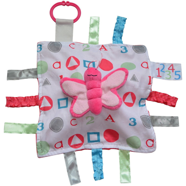 Baby Jack & Co lovey Butterfly Baby Jack & Co Sensory Educational Butterfly Lovey (0-12 months)