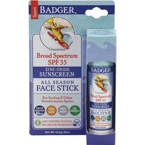 Badger - SPF35 All Season Face Stick-Unscented .65oz Stick