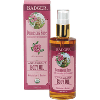 Badger Balms Body Oil Badger Balm - Damascus Rose Antioxidant Body Oil