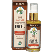 Badger Balms Hair Product Badger Balm - Argan Hair Oil for Dry Damaged Hair