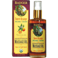 Badger Balms Massage Oil Badger Balm - Orange Aromatherapy Massage Oil