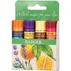 Badger lip balm Badger Organic Lip Balm - Classic Lip 4-pack (Green) - Tangerine / Lavender/ Vanilla/ Grapefruit