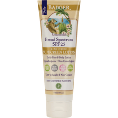 Badger sun protection Badger - SPF 25 Daily Sunscreen Lotion Unscented 119ml