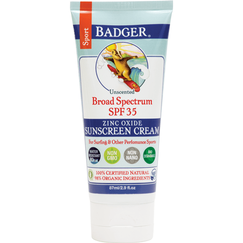 Badger sun protection Badger - SPF 35 Sport Sunscreen CREAM - unscented 87ml