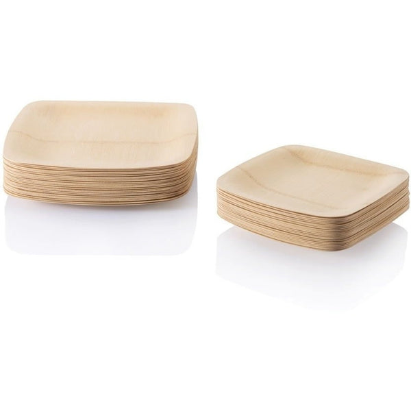 Bambu Disposable Plates Bambu - All Occasion Organic Veneerware 8 Pack (2 sizes)