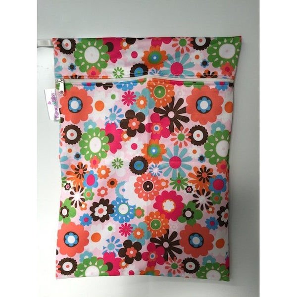 Bloom and Bliss Diaper Bag Flower Power Bloom & Bliss Reusable Wet Bag