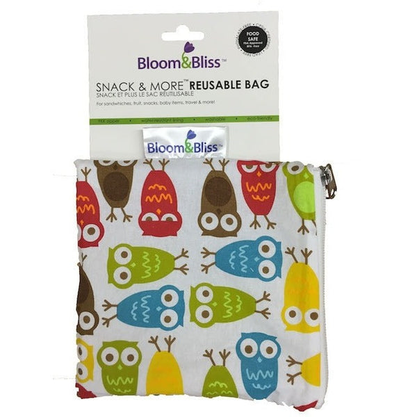 Bloom and Bliss Snack Bag Hoot! Bloom & Bliss Reusable Snack Bag (4 Designs)