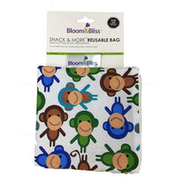 Bloom and Bliss Snack Bag Monkey Mania Bloom & Bliss Reusable Snack Bag (4 Designs)