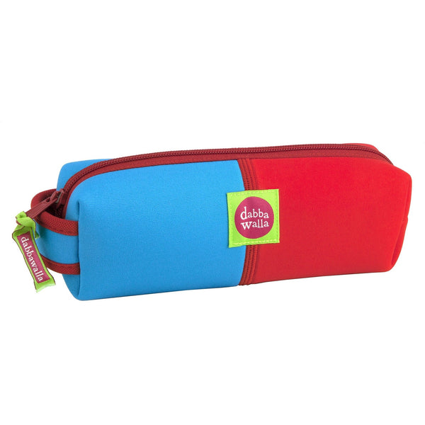 Dabbawalla Pencil Case Aqua/Red Dabbawalla NonToxic Pencil Case (3 Designs)
